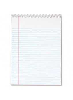 "Notepads, 70 Sheets - 16 lb Basis Weight - Letter 8.50"" x 11"" - 3 / Pack - White Paper- Notepad - top63633"