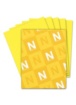 "Paper, For Inkjet Print - Letter - 8.50"" x 11"" - 24 lb Basis Weight - 500 / Ream - Yellow - wau22531"
