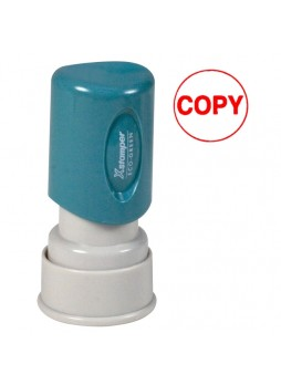 "Message Stamp - ""COPY"" - 0.63"" Impression Diameter - Red - Recycled - 1 Each - xst11407"