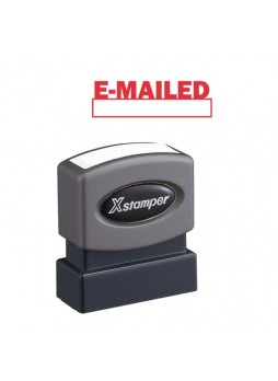 "Message Stamp - ""E-MAILED"" - 0.50"" Impression Width x 1.62"" Impression Length - 100000 Impression(s) - Red - Recycled - 1 Each - xst1650"