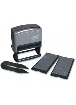 "Custom Message Stamp - 0.19"" Impression Width x 0.13"" Impression Length - Black - 1 Each - xst40410"
