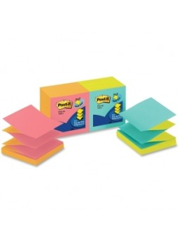 "Post-it R330-N-ALT Pop-up Cape Town Notes, Pop up, 3"" x 3"",  Assorted colors, Pack of 12"