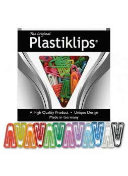 Baumgartens LP-0600 Plastiklips Paper Clip, LP0600, Assorted, plastic, Box of 200