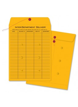 "Business Source Interdepartmental Envelope, #32, 10"" x 13"", 32lb, Kraft, Box of 100"