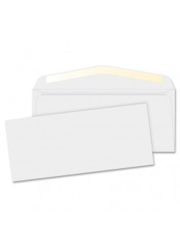 Business Source Regular Commercial Envelope, BSN42250,  #10, 24lb, Gummed, Box of 500