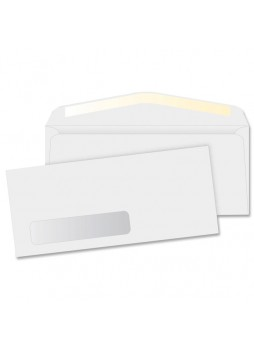Business Source Single Window Envelopes, BSN42251, Single Windows, #10, 24lb, Gummed, Box of 500
