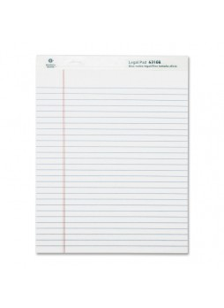 "Business Source Legal-ruled Writing Pads, BSN 63108, 8.50"" x 11.75"", 50 sheets, White paper, Dozen"