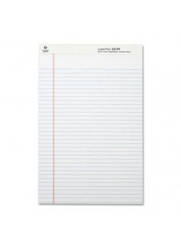 "Business Source Legal-ruled Writing Pads, Legal size, 8.5"" x 14"", 50 sheets, White Paper, Dozen,"
