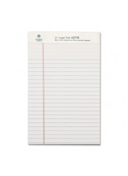 "Business Source Legal-ruled Writing Pads, Jr. legal, 8"" x 5"", White paper, 50 sheets, Dozen"