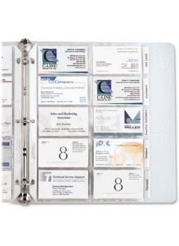 C-Line 61217 Business Card Refill Pages, Letter size, pack of 10