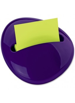 Post-it PBL330PP Pebble Pop-up Note Dispenser, Purple, Each