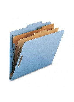 Nature Saver Classification Folder, NATSP17205, Light Blue, Letter size, 2 fastener capacity, 2 dividers, Box of 10
