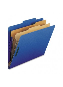Nature Saver Classification Folder, NATSP17207, Blue, Letter size, 2 fastener capacity, 2 dividers, Box of 10