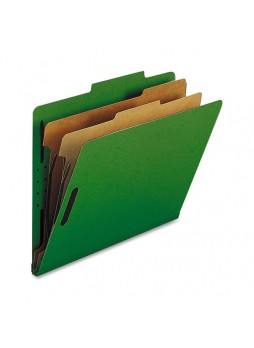 Nature Saver Classification Folder, NATSP17208, Green, Letter size, 2 fastener capacity, 2 dividers, Box of 10