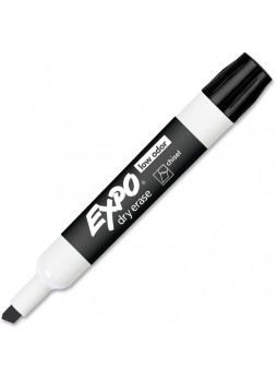 Expo 80001 Dry Erase Chisel Point Markers, Black, Dozen