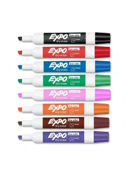 Expo 80078 II Dry Erase Markers, Assorted colors, Pack of 8
