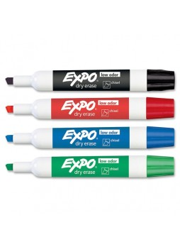 Expo 80174 Dry Erase Markers, Assorted, Pack of 4