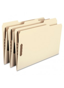 "Smead Manila Colored Fastener File Folders with Reinforced Tabs, Legal size, 0.75"" expansion, 1/3 tab cut, Box of 50"