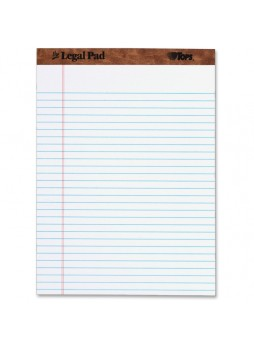"Legal Pad Ruled Top Perforated, 8.5"" x 11.75"", White, 50 sheets, Dozen"
