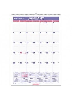 At-A-Glance PM22816 Recycled Monthly Wall Calendar, Each