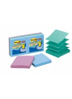 "Business Source 16453 Pop-up Adhesive Note, 3"" x 3"", Assorted, Pack of 12"