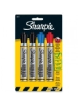 Sharpie King Size Permanent Markers, SAN15674PP, Chiesel point, assorted colors, Pack of 4