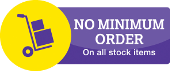 No Minimun Order